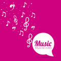 Music design notes vector illustration Royalty Free Stock Photography