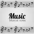 Music design notes vector illustration Stock Photos