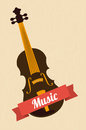 Music design over beige background vector illustration Stock Photos