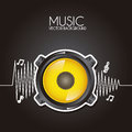 Music design over black background vector illustration Royalty Free Stock Photos