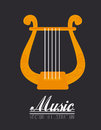 Music design over dark background vector illustration Stock Photography
