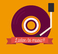 Music design over orange background vector illustration Royalty Free Stock Image