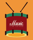 Music design over orange background vector illustration Royalty Free Stock Photos