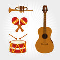 Music design over white background vector illustration Royalty Free Stock Image