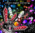 Music Disco Event BAckground Royalty Free Stock Images