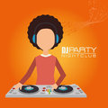 Music dj party theme Royalty Free Stock Photo