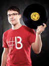 Music dj photo of a techno Royalty Free Stock Image