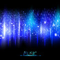 Music equalizer blue color design Royalty Free Stock Image