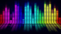 Music equalizer graphics of on black background Royalty Free Stock Photography