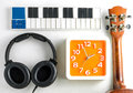 Music equipment for music production time. Royalty Free Stock Photo