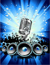 Music Event Background Stock Image