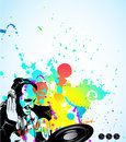 Music Event Background with Dj Shape Stock Image
