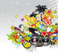 Music event background for flyers or posters Stock Images