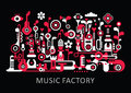 Music Factory Royalty Free Stock Photo