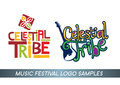 Music festival logo celestial tribe with african tribe style and new generation style Stock Photo