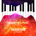 Music festival poster background. Jazz piano music cafe promotional