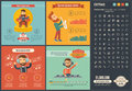 Music flat design Infographic Template