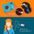 Music flat vector illustration Royalty Free Stock Photo