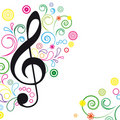 Music Floral Background. Stock Image