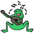 Music frog creative design of Stock Photography