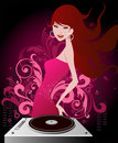 Music girl Royalty Free Stock Photos