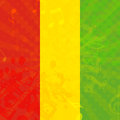 Music grunge background with flag of ethiopia vector illustration Royalty Free Stock Photos