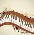 Music grunge background with piano and notes Stock Photo