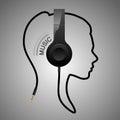 Music head logo