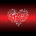 Music in heart background Royalty Free Stock Photos