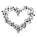 Music From Heart Sketch  Vecto...
