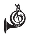 Music horn icon