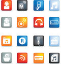 Music icon buttons Stock Image