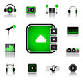 Music icon set dj player Royalty Free Stock Image