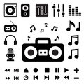 Music icon set illustration eps Stock Photo