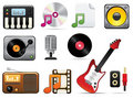 Music Icon Set One Stock Photo