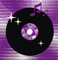 Music icon violet player element for album title Royalty Free Stock Image