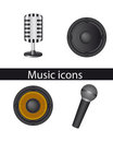 Music icons Stock Image