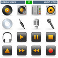 Music Icons - Robico Series Royalty Free Stock Photo