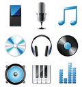 Music icons set Royalty Free Stock Image