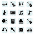 Music icons set Royalty Free Stock Photography