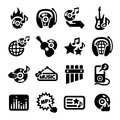 Music icons set elegant vector icon for web and mobile Royalty Free Stock Image
