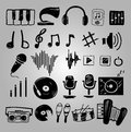 Music icons set illustration of isolated Stock Images