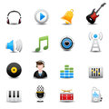 Music icons set this image is a vector illustration Stock Photo