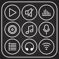 Music icons set. Vector