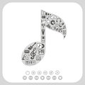 Music icons set on white background eps don t use transparency Royalty Free Stock Images