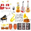 Music instrument easy to edit vector illustration of collection Royalty Free Stock Images