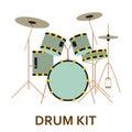 Music instrument icon. Drum kit