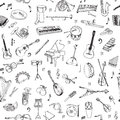 Music Instruments Background Royalty Free Stock Photo