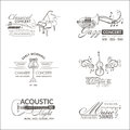 Music and Instruments - Logos and Badges Royalty Free Stock Photo
