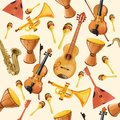 Music instruments seamless pattern Royalty Free Stock Photo